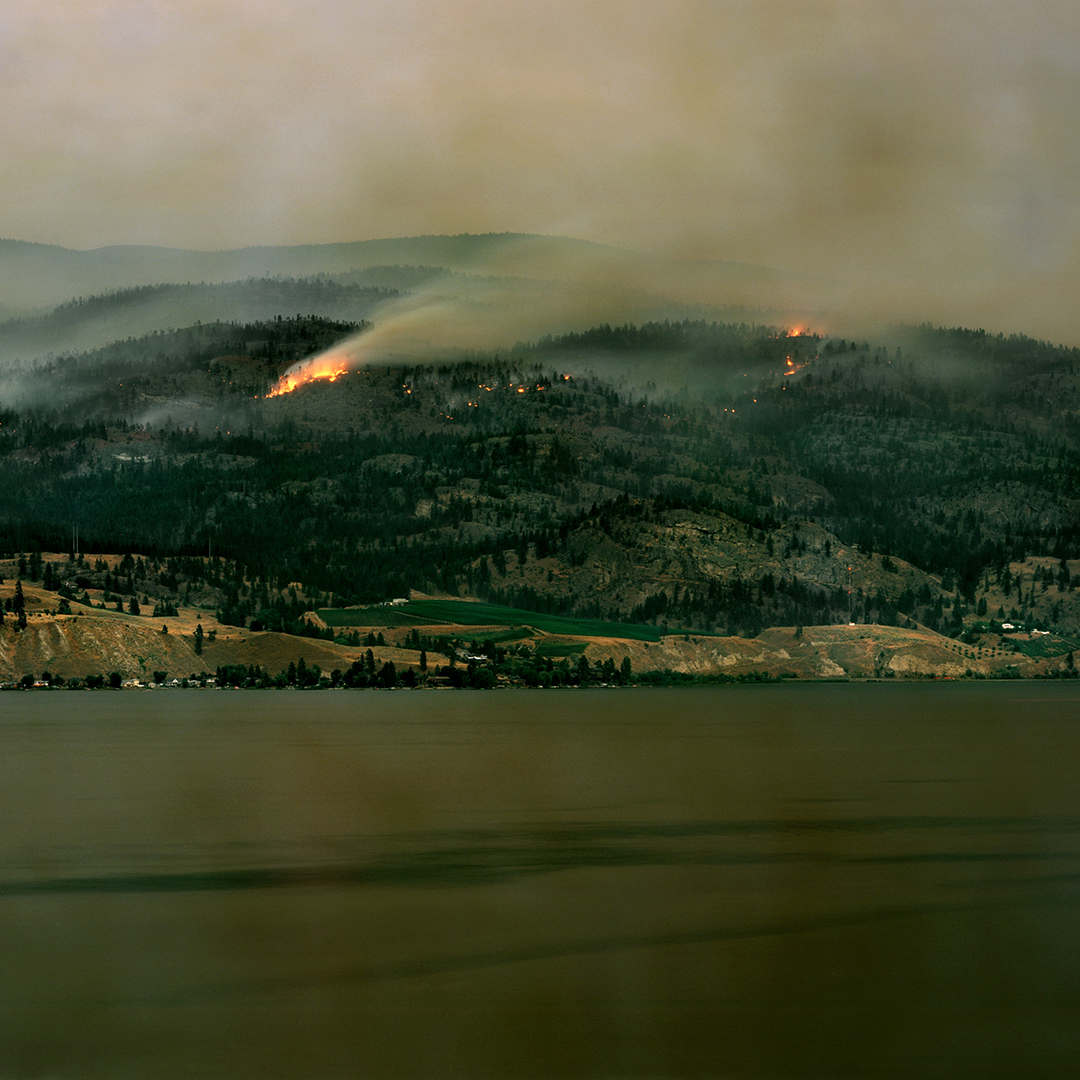 Wildfire in the central okanagan